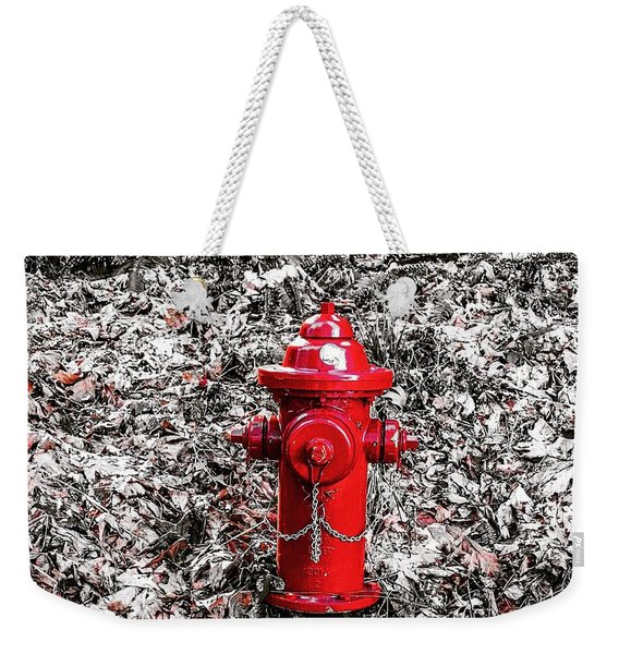 Red Fire Hydrant Weekender Tote Bag
