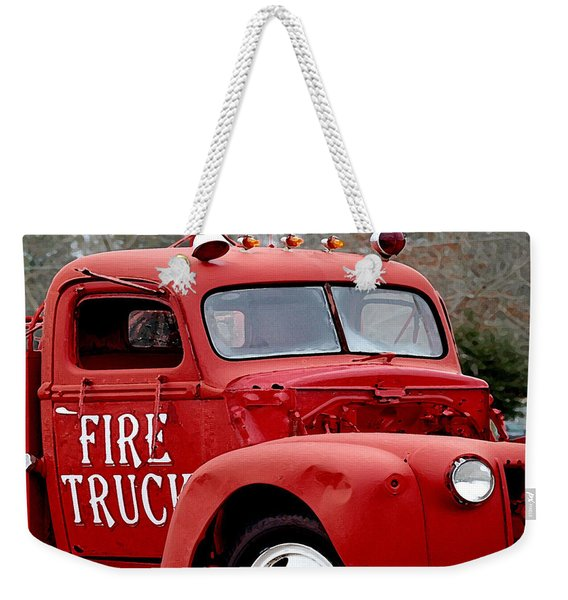 Red Fire Truck Weekender Tote Bag