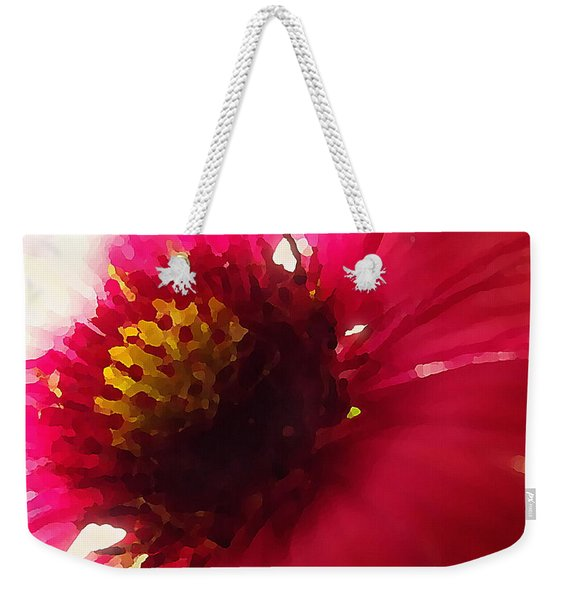 Red Flower Abstract Weekender Tote Bag