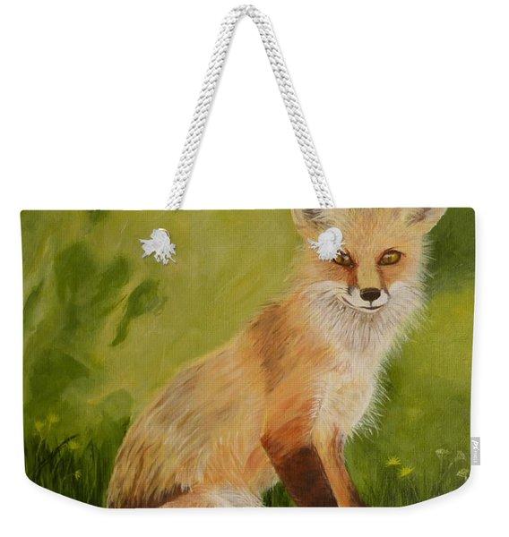 Red Fox 1 Weekender Tote Bag