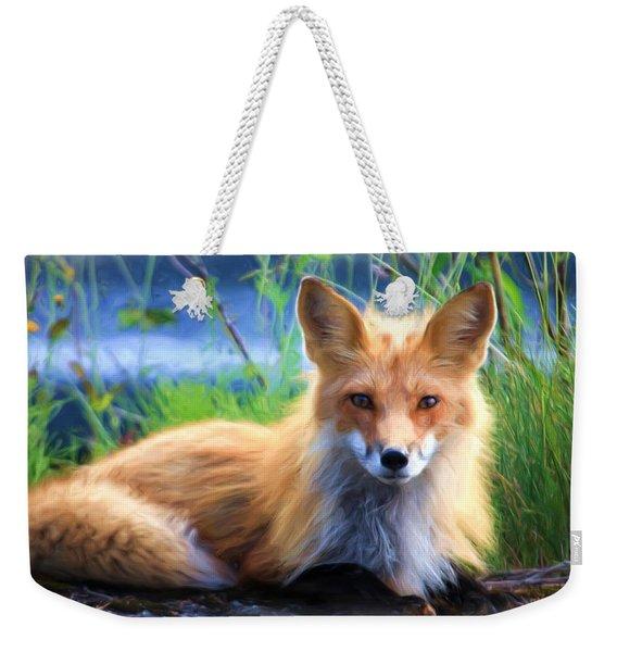 Red Fox  Weekender Tote Bag
