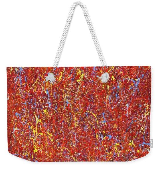 Red Galaxy-2 Weekender Tote Bag