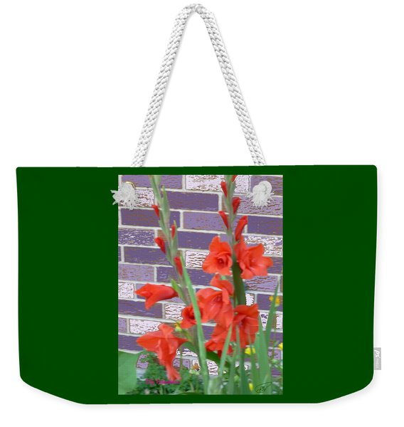 Red Gladiolas Weekender Tote Bag