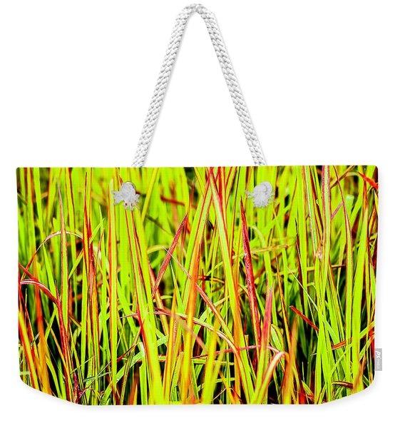 Red Green And Yellow Grass Weekender Tote Bag
