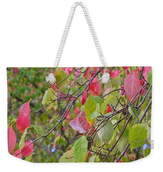 Red Green October Weekender Tote Bag