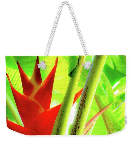 Red Heliconia Weekender Tote Bag