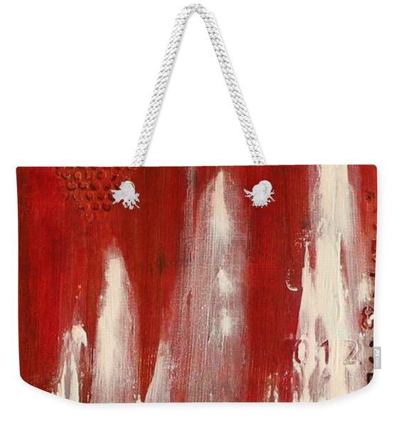 Red Holiday Weekender Tote Bag