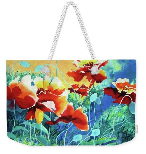 Red Hot Cool Blue Weekender Tote Bag
