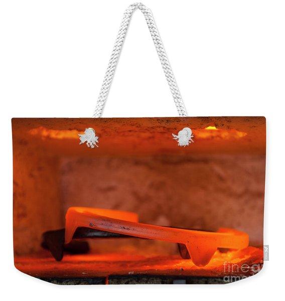 Red Hot Horseshoe Weekender Tote Bag
