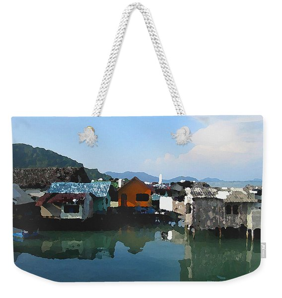 Red House On The Water Weekender Tote Bag