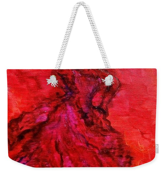 Red Lady Weekender Tote Bag