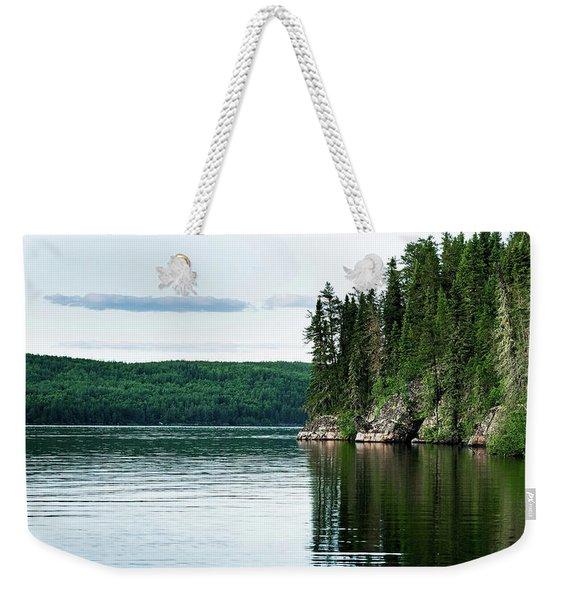 Red Lake Ontario Weekender Tote Bag
