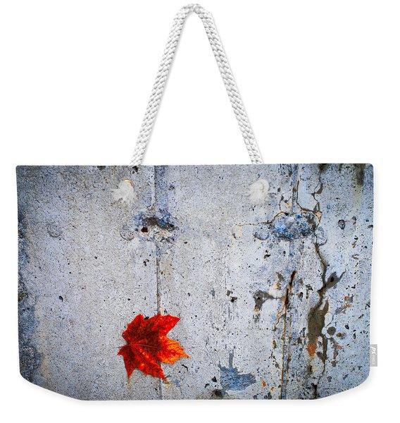 Red Leaf Weekender Tote Bag