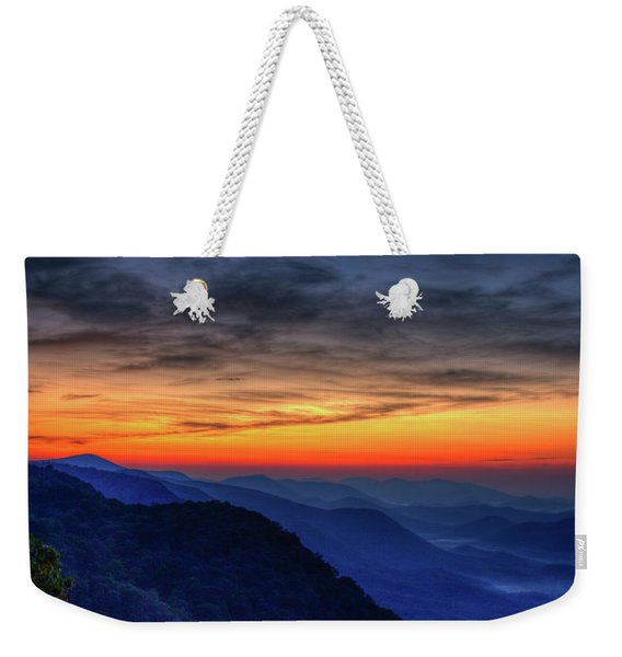 Red Line Panorama Pretty Place Chapel Ymca Camp Greenville South Carolina Art Weekender Tote Bag