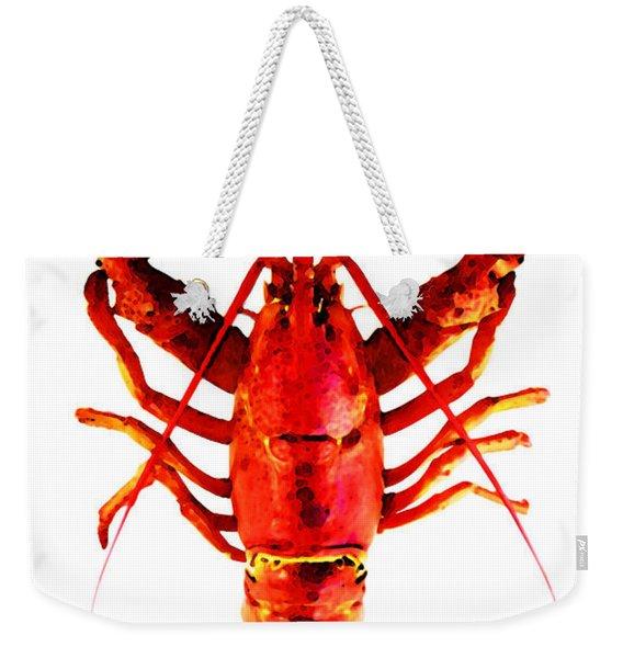 Red Lobster - Full Body Seafood Art Weekender Tote Bag