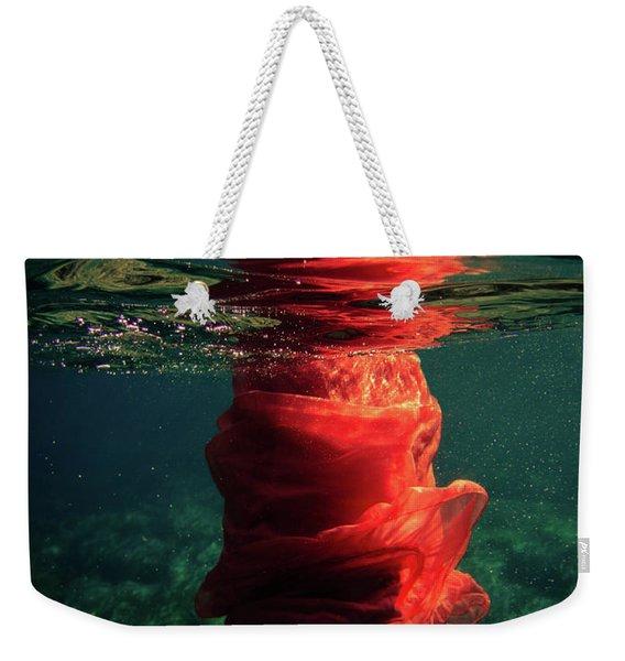 Red Mermaid Weekender Tote Bag