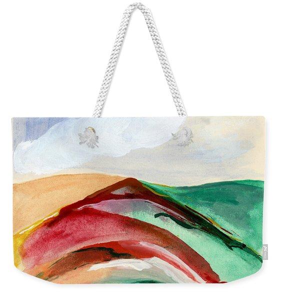 Red Mountain Dawn Weekender Tote Bag