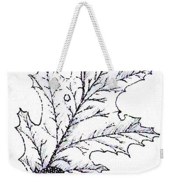 Red Oak Leaf And Acorn Weekender Tote Bag