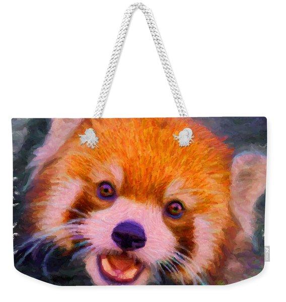 Red Panda Cub Weekender Tote Bag