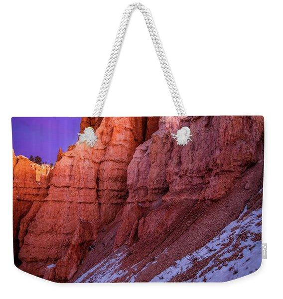 Red Peaks Weekender Tote Bag