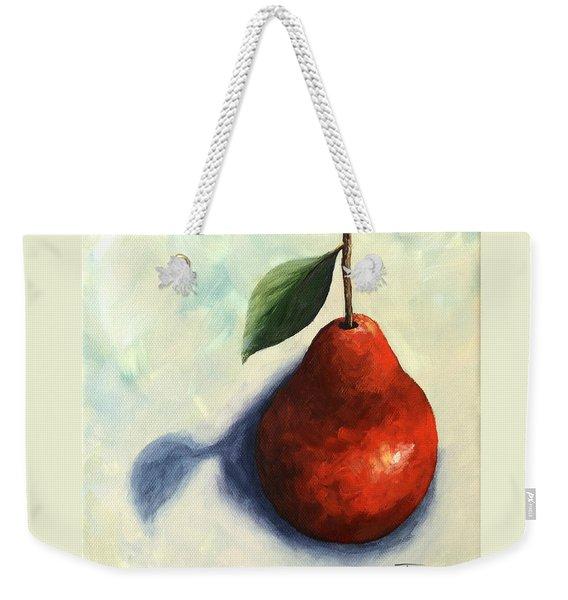 Red Pear In The Spotlight Weekender Tote Bag