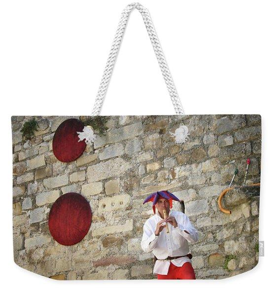 Red Piper Weekender Tote Bag