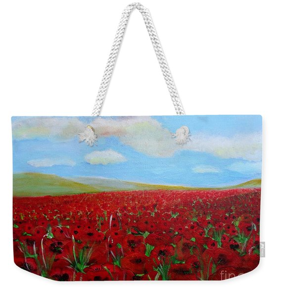 Red Poppies In Remembrance Weekender Tote Bag