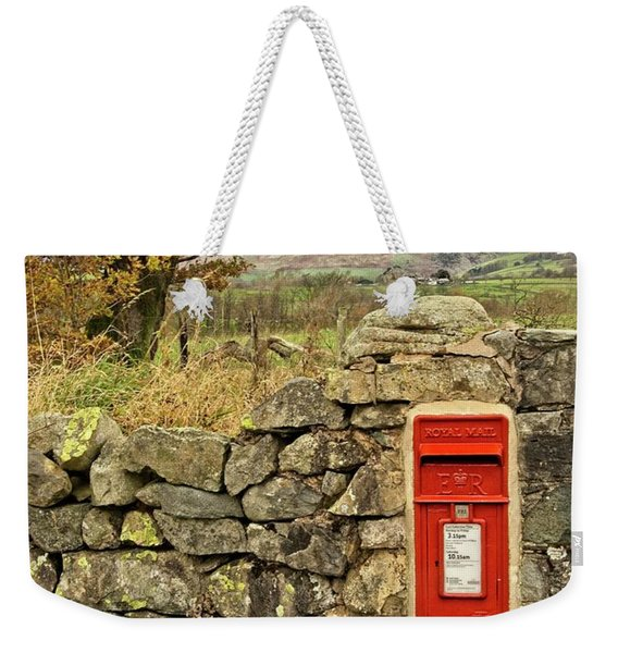 Red Postbox Down A Country Lane Weekender Tote Bag