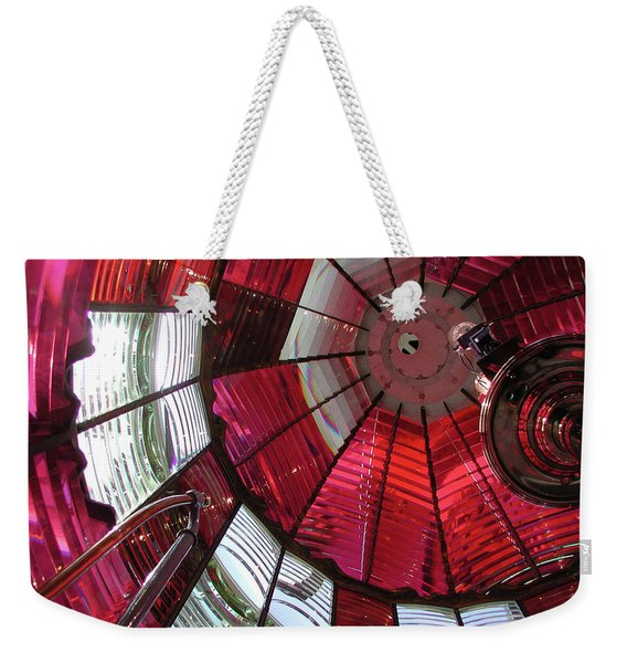 Red Reflections Weekender Tote Bag