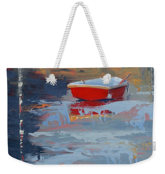 Red Reflections Weekender Tote Bag