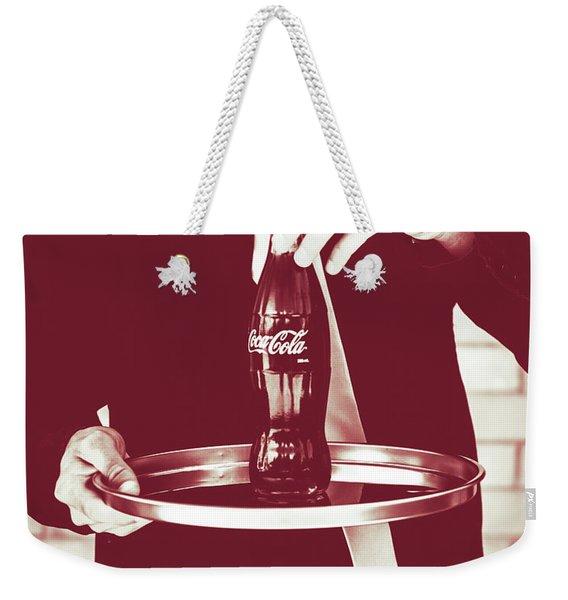 Red Retro Coca-cola Weekender Tote Bag