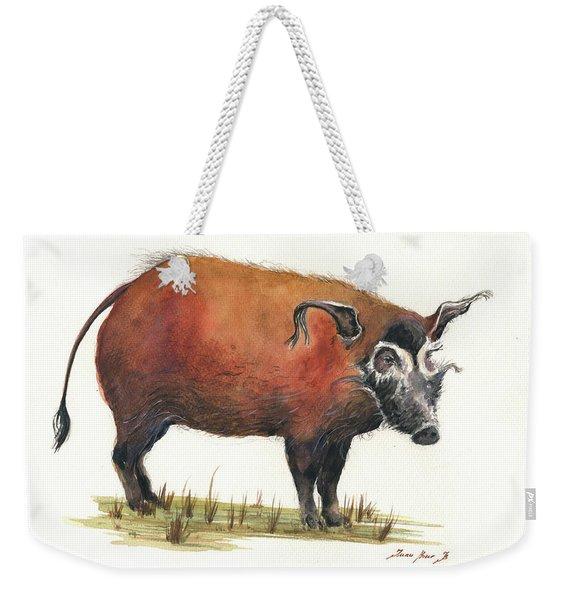 Red River Hog Weekender Tote Bag