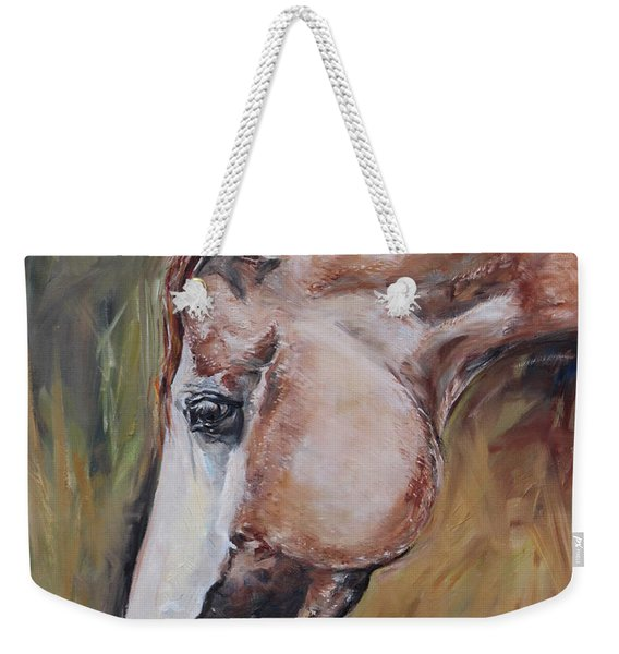 Red Roan Horse Weekender Tote Bag