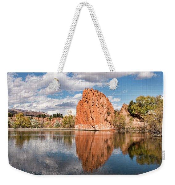 Red Rock Canyon Reservoir Weekender Tote Bag