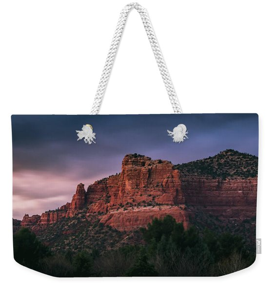 Weekender Tote Bag featuring the photograph Red Rock Formations Long Exposure by Andy Konieczny