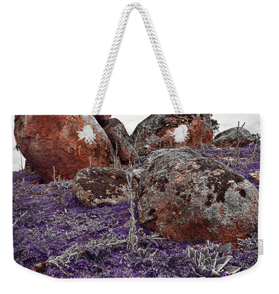 Red Rocks And Thunder Weekender Tote Bag