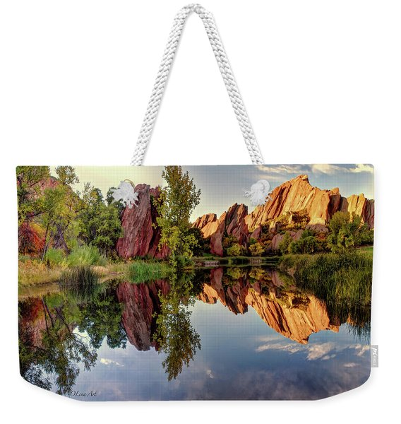 Red Rocks Reflection Weekender Tote Bag