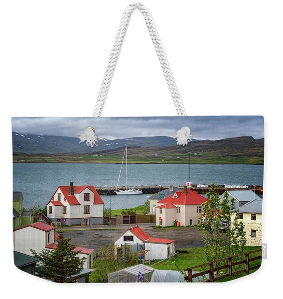 Red Roofs Of Holmavik Weekender Tote Bag