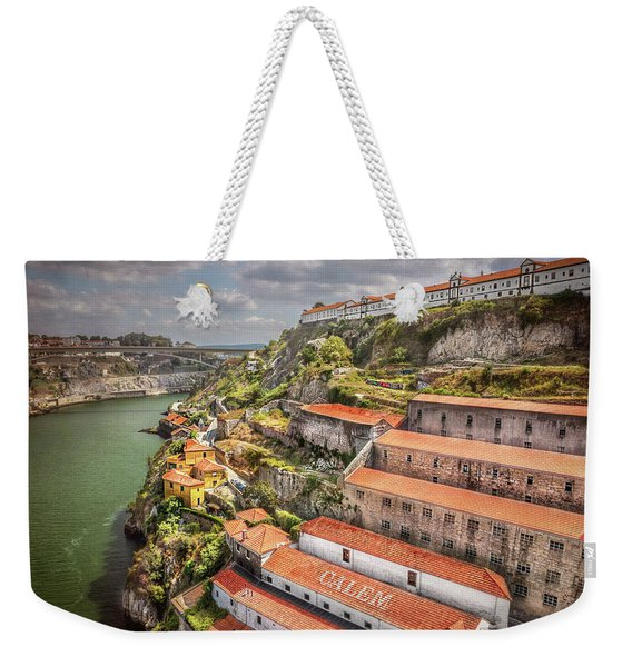 Red Roofs Of Porto Weekender Tote Bag
