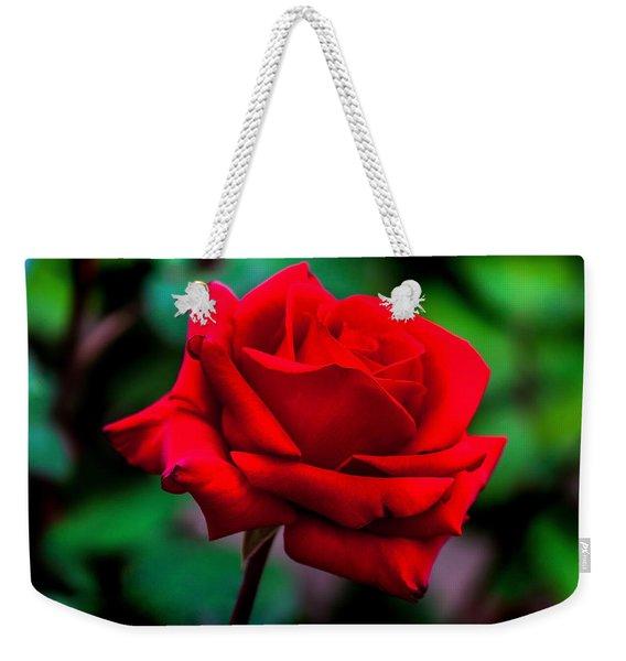 Red Rose 2 Weekender Tote Bag