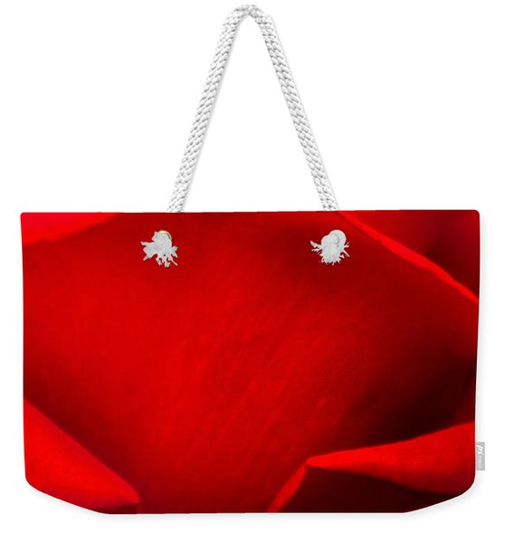 Red Rose Petals Weekender Tote Bag