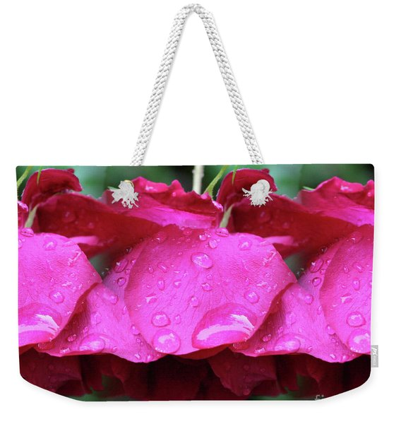 Red Roses And Raindrops Weekender Tote Bag