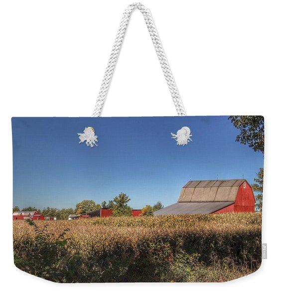 0042 - Red Saltbox Barn Weekender Tote Bag