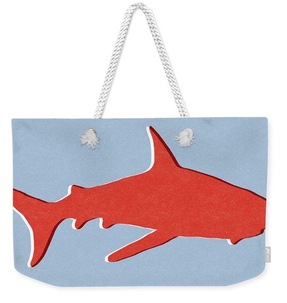 Red Shark Weekender Tote Bag