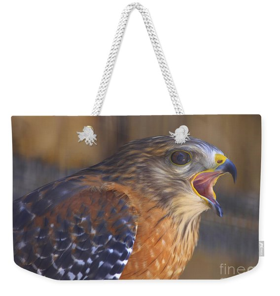 Red Shoulder Hawk Weekender Tote Bag