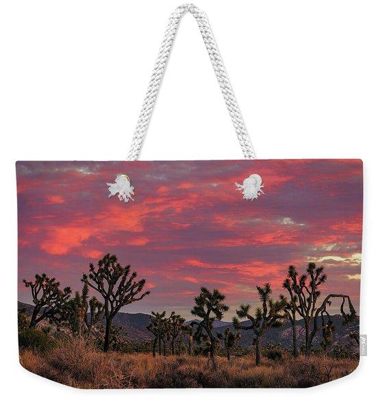 Red Sky Over Joshua Tree Weekender Tote Bag