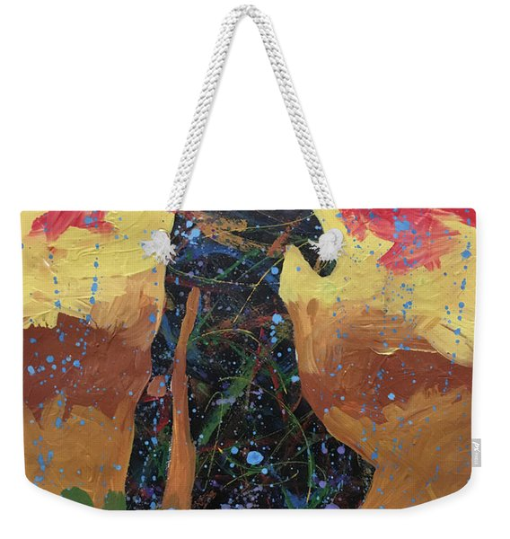 Red Sky Rain Weekender Tote Bag
