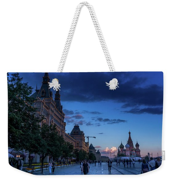 Red Square At Dusk Weekender Tote Bag
