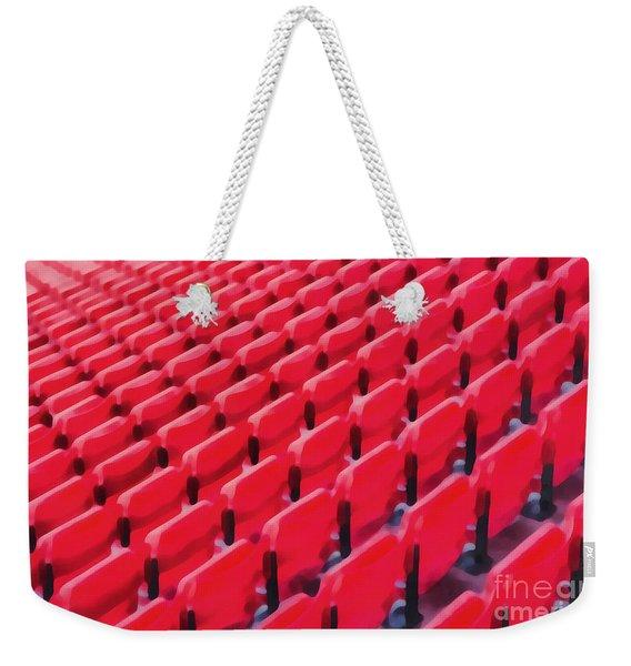 Red Stadium Seats Weekender Tote Bag