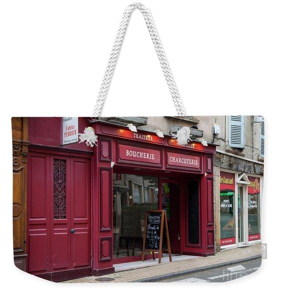 Red Storefront Weekender Tote Bag